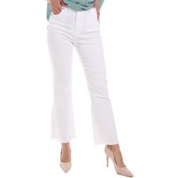 Υφασμάτινα Γυναίκα Τζιν καμπάνα Gaudi 011BD25017 λευκό