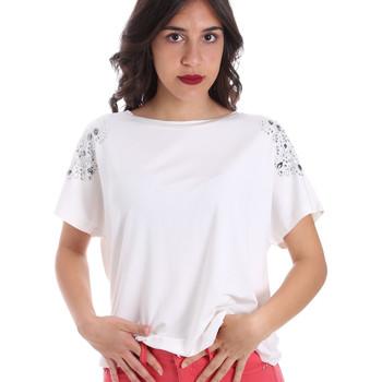 Υφασμάτινα Γυναίκα T-shirt με κοντά μανίκια Gaudi 011FD64022 λευκό