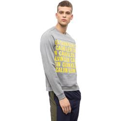 Υφασμάτινα Άνδρας Φούτερ Calvin Klein Jeans 00GMF8W320 Γκρί