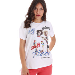 Υφασμάτινα Γυναίκα T-shirt με κοντά μανίκια Gaudi 011BD64037 λευκό