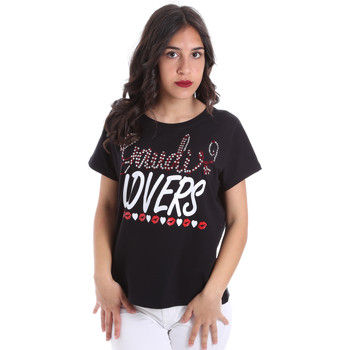 Υφασμάτινα Γυναίκα T-shirt με κοντά μανίκια Gaudi 011BD64008 Μαύρος