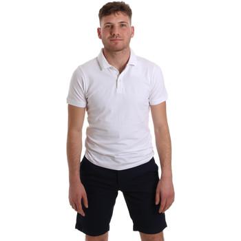 Υφασμάτινα Άνδρας Πόλο με κοντά μανίκια  Sseinse ME1517SS λευκό