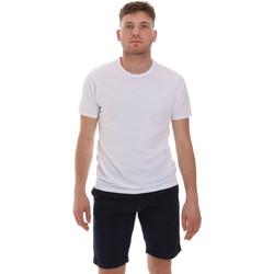 Υφασμάτινα Άνδρας T-shirt με κοντά μανίκια Sseinse ME1566SS λευκό