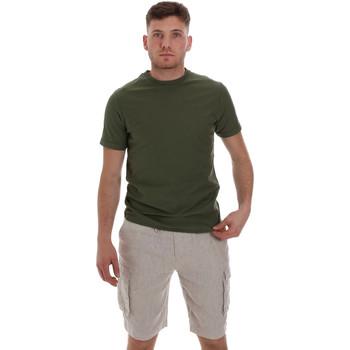 Υφασμάτινα Άνδρας T-shirt με κοντά μανίκια Sseinse ME1548SS Πράσινος