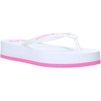 Παπούτσια Γυναίκα Σαγιονάρες Ea7 Emporio Armani XFQ008 XK085 λευκό