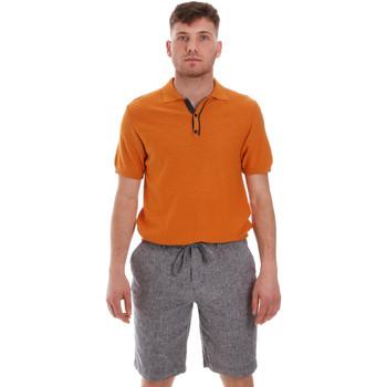 Υφασμάτινα Άνδρας Πόλο με κοντά μανίκια  Sseinse ME1528SS Πορτοκάλι
