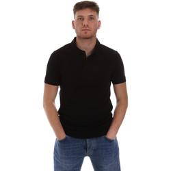 Υφασμάτινα Άνδρας Πόλο με κοντά μανίκια  Sseinse ME1517SS Μαύρος