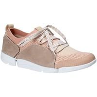 Παπούτσια Γυναίκα Χαμηλά Sneakers Clarks 131094 Ροζ
