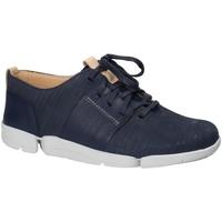 Παπούτσια Γυναίκα Χαμηλά Sneakers Clarks 131797 Μπλε