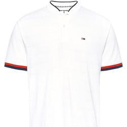 Υφασμάτινα Άνδρας Πόλο με κοντά μανίκια  Tommy Jeans DM0DM07780 λευκό