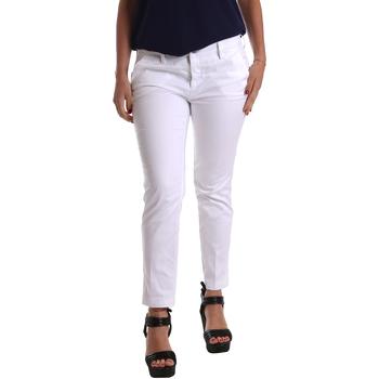 Υφασμάτινα Γυναίκα Παντελόνια Chino/Carrot Café Noir JP236 λευκό