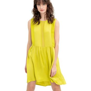 Υφασμάτινα Γυναίκα Κοντά Φορέματα Fracomina FR20SM545 Κίτρινος