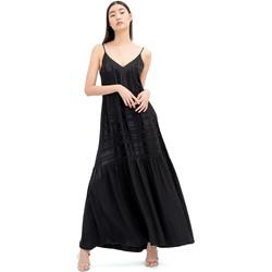 Υφασμάτινα Γυναίκα Μακριά Φορέματα Fracomina FR20SM546 Μαύρος