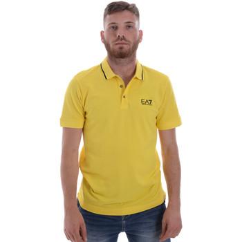 Υφασμάτινα Άνδρας Πόλο με κοντά μανίκια  Ea7 Emporio Armani 8NPF06 PJ04Z Κίτρινος