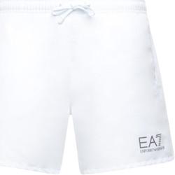 Υφασμάτινα Άνδρας Μαγιώ / shorts για την παραλία Ea7 Emporio Armani 902000 CC721 λευκό