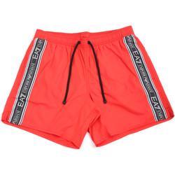 Υφασμάτινα Άνδρας Μαγιώ / shorts για την παραλία Ea7 Emporio Armani 902000 0P734 το κόκκινο