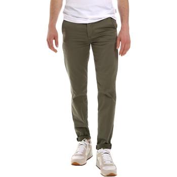 Υφασμάτινα Άνδρας Παντελόνια Chino/Carrot Sseinse PSE555SS Πράσινος