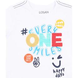 Υφασμάτινα Κορίτσι T-shirt με κοντά μανίκια Losan 015-1032AL λευκό