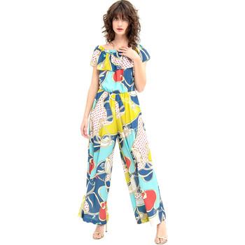 Υφασμάτινα Γυναίκα Ολόσωμες φόρμες / σαλοπέτες Fracomina FR20SM032 Μπλε