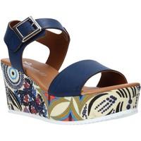 Παπούτσια Γυναίκα Σανδάλια / Πέδιλα Grace Shoes 07 Μπλε