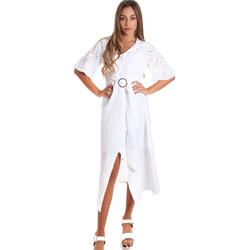 Υφασμάτινα Γυναίκα Μακριά Φορέματα Fracomina FR20SM561 λευκό