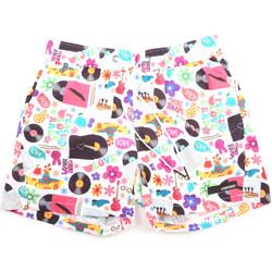 Υφασμάτινα Άνδρας Μαγιώ / shorts για την παραλία Rrd - Roberto Ricci Designs 18321 λευκό