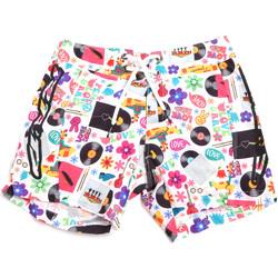 Υφασμάτινα Άνδρας Μαγιώ / shorts για την παραλία Rrd - Roberto Ricci Designs 18320 λευκό