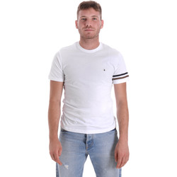 Υφασμάτινα Άνδρας T-shirt με κοντά μανίκια Les Copains 9U9014 λευκό