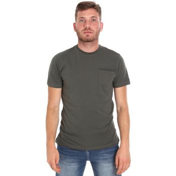 Υφασμάτινα Άνδρας T-shirt με κοντά μανίκια Les Copains 9U9010 Πράσινος