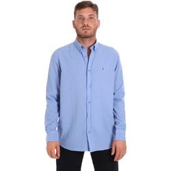 Υφασμάτινα Άνδρας Πουκάμισα με μακριά μανίκια Les Copains 9U2371 Μπλε