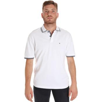 Υφασμάτινα Άνδρας Πόλο με κοντά μανίκια  Les Copains 9U9020 λευκό