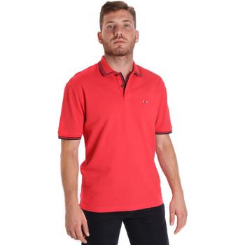 Υφασμάτινα Άνδρας Πόλο με κοντά μανίκια  Les Copains 9U9020 το κόκκινο