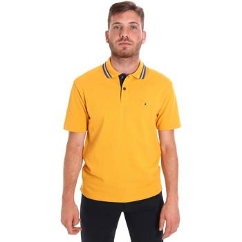 Υφασμάτινα Άνδρας Πόλο με κοντά μανίκια  Les Copains 9U9021 Κίτρινος