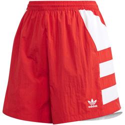 Υφασμάτινα Γυναίκα Σόρτς / Βερμούδες adidas Originals FM2637 το κόκκινο