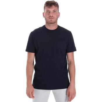 Υφασμάτινα Άνδρας T-shirt με κοντά μανίκια Les Copains 9U9010 Μπλε