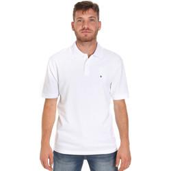 Υφασμάτινα Άνδρας Πόλο με κοντά μανίκια  Les Copains 9U9015 λευκό