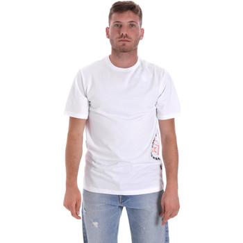 Υφασμάτινα Άνδρας T-shirt με κοντά μανίκια Converse 10018872-A02 λευκό