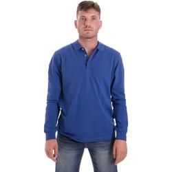 Υφασμάτινα Άνδρας Πόλο με μακριά μανίκια  Navigare NV82109 Μπλε