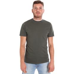 Υφασμάτινα Άνδρας T-shirt με κοντά μανίκια Les Copains 9U9013 Πράσινος