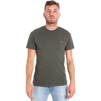 Υφασμάτινα Άνδρας T-shirt με κοντά μανίκια Les Copains 9U9011 Πράσινος