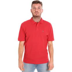 Υφασμάτινα Άνδρας Πόλο με κοντά μανίκια  Les Copains 9U9015 το κόκκινο