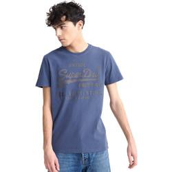 Υφασμάτινα Άνδρας T-shirt με κοντά μανίκια Superdry M1010100A Μπλε