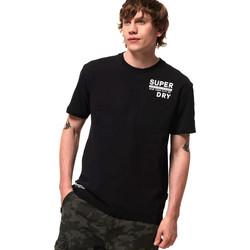 Υφασμάτινα Άνδρας T-shirt με κοντά μανίκια Superdry M1000040A Μαύρος