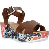 Παπούτσια Γυναίκα Σανδάλια / Πέδιλα Grace Shoes 12 καφέ