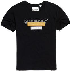 Υφασμάτινα Γυναίκα T-shirt με κοντά μανίκια Superdry G10305YU Μαύρος
