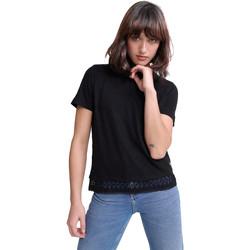 Υφασμάτινα Γυναίκα T-shirt με κοντά μανίκια Superdry G60408RU Μαύρος