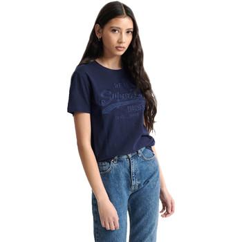 Υφασμάτινα Γυναίκα T-shirt με κοντά μανίκια Superdry W1010028A Μπλε