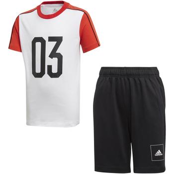 Υφασμάτινα Παιδί Σετ από φόρμες adidas Originals FL2810 λευκό
