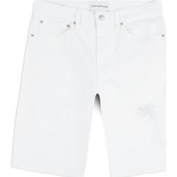 Υφασμάτινα Άνδρας Σόρτς / Βερμούδες Calvin Klein Jeans J30J314643 λευκό