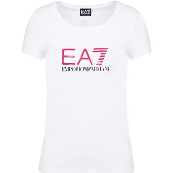 Υφασμάτινα Γυναίκα T-shirt με κοντά μανίκια Ea7 Emporio Armani 8NTT63 TJ12Z λευκό